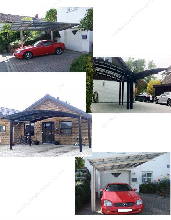 aluminiumrahmen glasdach auto zelt f r parkplatz garage. Black Bedroom Furniture Sets. Home Design Ideas