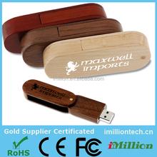 hot-sale! OEM 2gb/4gb/8gb/16gb wood/bamboo swivel/twist usb flash drive in bulk wholesale for Mac,XP