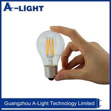 4W 6W 8W Led filament bulb bombila E14 E27 A55 100lm/W dimmable