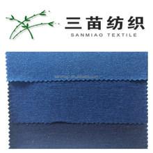 T-shirt de algodão pique malha denim raw algodão terry pano tecido