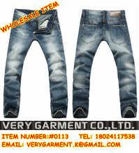 pp dammaged hombres pantalones vaqueros de corte recto de mezclilla pantalones de los hombres de italia de la marca famosa