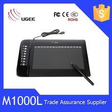 M1000L 10x6 inch mouse pocket pen tablet