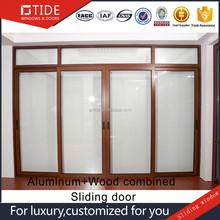 Doors sliding,timber wood aluminum framed sliding/handling tempered glass door