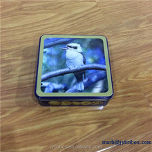 High quality customized printing square brie cheese tin box
