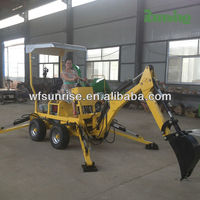 Mini excavator manufacturer factory direct Small Towable Backhoe for sale