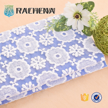 Classic new design knitted Soft-touching African Lace Plain embroidery garment fabric with magnetic strip