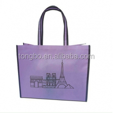 Matte Lamination PP Non Woven Purple Shopping Bag with Advertising Logo