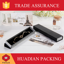 Brand logo print perfect black paper jewelry bracelet box package