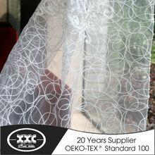 de alta calidad populares caliente de la venta de flores bordado pura elegante cortina de la ventana 2014
