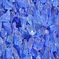 Tumbled Glass Mulch Blue Color 10mm-800mm