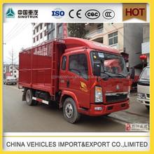 Diesel Fuel SINOTRUCK HOWO Light Truck 4x2 10t howo fence truck