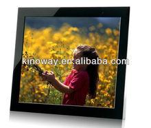 slim digital photo frame 17'' digital photo frame HD 1280*1050 perfect home/hotel decoration