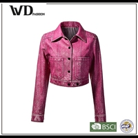 Hight quality products biker leather jacket, bomber jacket woman