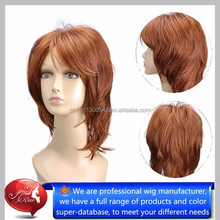 Factory price kanekalon synthetic hair short cut curly wigs, velvet remi hair wholesale
