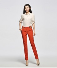 2015 top grade high quality new fashion wholesale three colors office lady pants