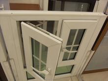 Steel liner PVC casement window, good quality window with EPDM seals