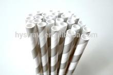 negro y blanco a rayas de paja de papel para la fiesta de halloween decoración