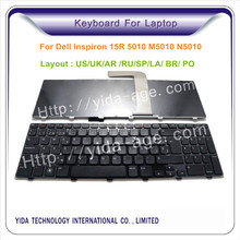 laptop keyboard factory for Dell Inspiron 15R N5010 notebook keyboard