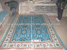 Foshan Noble high-grade hand knotted Persian style silk carpets 100%