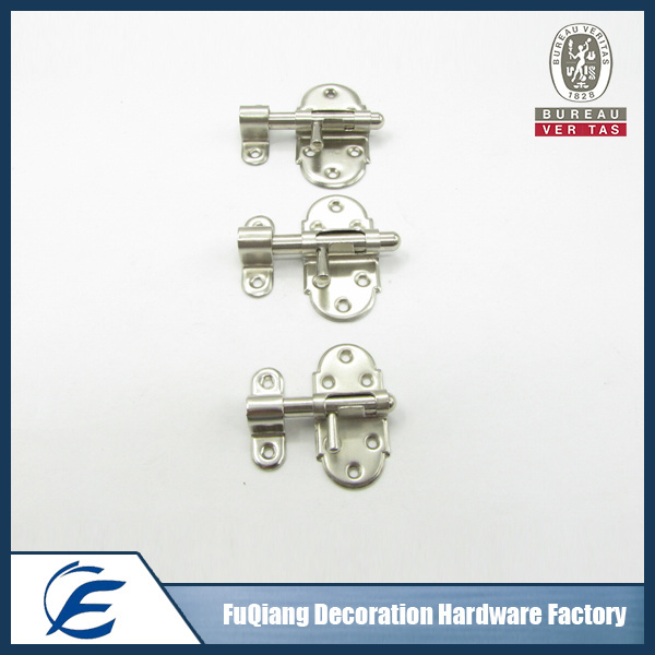 Metal glass door latch