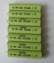 1.2V nimh AAA size battery 600mah 700mah 800mah 900mah rechargeble recycle battery
