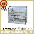 w442 counter top display de vidro vitrine de padaria