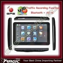 Traffic Recording and Bluetooth + AV-in gps navigator