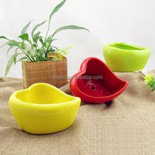 Artesanías de cerámica en forma de corazón barato ollas pequeña flor