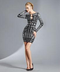 2015 new arrival mature ladies autumn dresses in top design