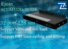 2014 Ejoin High Quality! dual sim card gsm fixed wireless terminal 32 port addpac china manufacturing 128 sims supplier