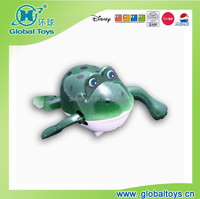 HQ7936 wind up swimming frog with EN71 standard for promotion toy