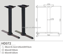 HD072 Two T- Cast Iron cast iron table bases restaurant adjustable table feet