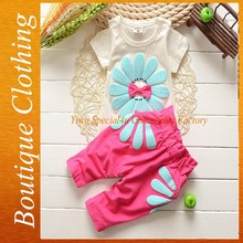 2015 new arrival fashion sweet girls summer clothing with low MOQ SFUBS-002