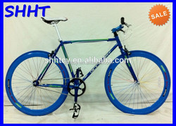 700C carbon fixed gear sport blue bike SH-SR008