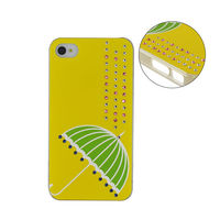 for iPhone 4 case with decoration rhinestone mobile phone covers hot selling