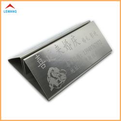 LEWANG Custom Wedding Stainless Steel Metal Desktop Place Card Holder