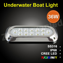High power 1600LM RGB 36W IP68 LED marine light underwater boat/ship/pool lights made in China
