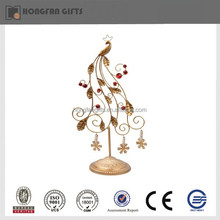 2015 Fashion metal iron Christmas peacock product decoration