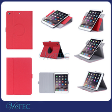 litchi grain matte multi-angle rotate shockproof case for tablet ipad mini 4