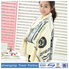 75*150cm hot sales terry printed beach towel with dollars