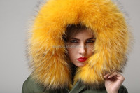 American style military parka with liner real fox fur coat