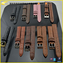 2015 High Quality Custom Design Luxury The Newest Style Leather Watch Band For Any Size Stainless Steel Buckle Watch Band