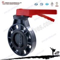 API Manual operated pvc plastic dn150 butterfly valve