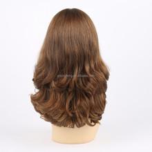 4x4 hand knots big layer virgin european human hair silk top jewish wig