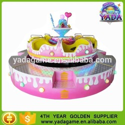 newest round spin car amusement park ride equipment for kids
