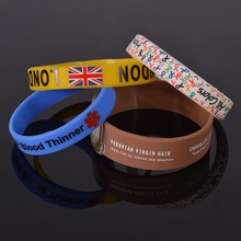 High quality custom popular wholesales gifts of silicone wristband