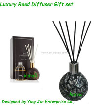 Luxury mosaic fragrance reed diffuser , Aroma reed diffuser for home fragrance decor