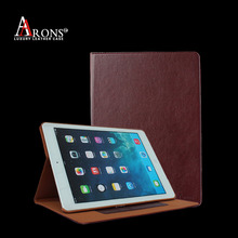 Book design stand genuine leather case cover for ipad