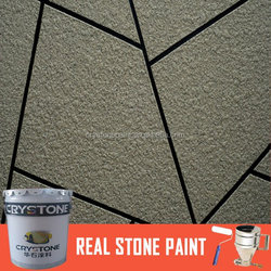 A-009 Spray Application Method stone paint and Acrylic Main Raw Material acrylic resin real stone coating for wall