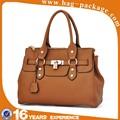 Liams garantizado 100% real de cuero popular de los bolsos europeos, Elegante madura mujer de mano, Brown bag